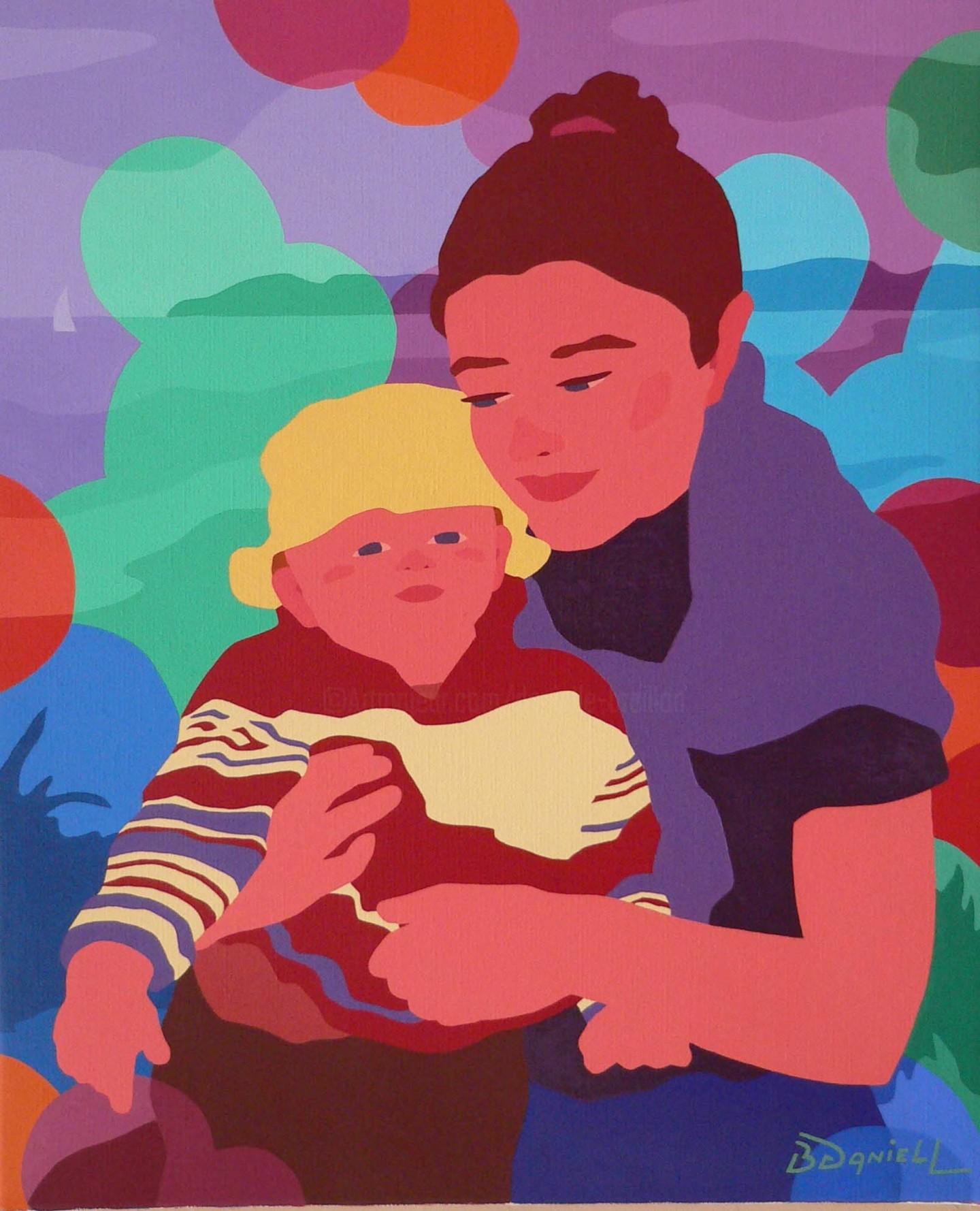 Danielle Braillon (DANIELL) - Mère et son enfant