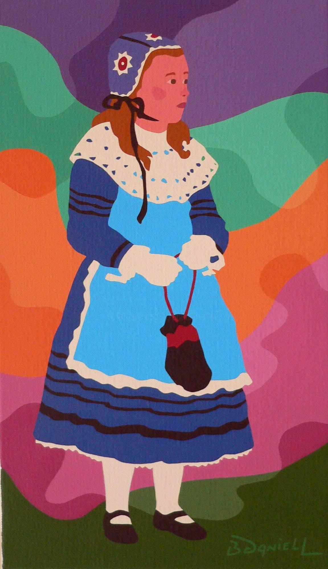 Danielle Braillon (DANIELL) - Petite fille au tablier bleu