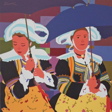 Femmes aux parapluies